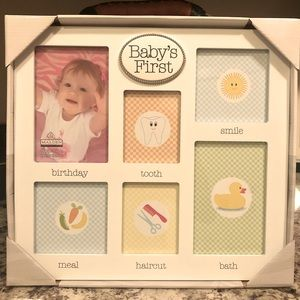 NEW Baby's Firsts Picture Frame
